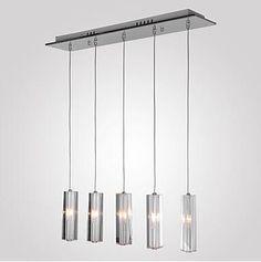 Chrome Modern LED Crystal Pendant Lights Fixture Dinning Room LED Pendant Lamp Hanging Light Lamparas Colgantes