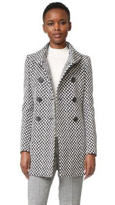 Derek Lam Double Breasted High Collar Coat