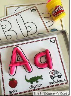 kleikaarten alfabet #Setupasimplefinemotoractivitytoworkonletterrecognition