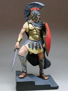 Tin Soldiers: HAND PAINTED - 75 mm **** Athenian Hoplite **** #Handmade