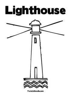 Lighthouse Coloring Page from TwistyNoodle.com