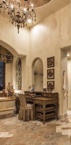 Old World Mediterranean Italian Spanish Tuscan Homes Design Decor