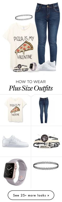 """""""Basics 2.0"""" by a-wolfie on Polyvore featuring NIKE, women's clothing, women's fashion, women, female, woman, misses and juniors"""