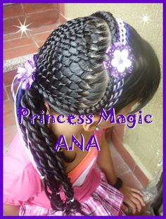 peinados Swag Hairstyles, Church Hairstyles, Girly Hairstyles, African Braids Hairstyles, Little Girl Hairstyles, Pretty Hairstyles, Braided Hairstyles, Hairstyle Ideas, Little Girl Braids
