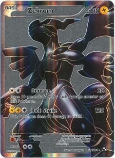 Zekrom full art from Black and White, gray print