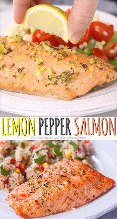 Need an easy healthy dinner Try this easy flavorful lemon pepper salmon recipe Grill or broil and only 1 WW point salmonrecipes dinnerrecipes seafood fishrecipes healthyrecipes ketorecipes lowcarbrecipes healthydinners healthy wwrecipes ww weightwatchers Salmon Dinner, Seafood Dinner, Seafood Appetizers, Fish Dinner, Grilled Salmon Recipes, Salmon Recipes Whole 30, Recipes For Salmon Filets, Salmon Belly Recipes, Cooking