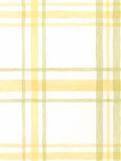 This wallpaper is bright & sunny with its yellow, green & white plaid pattern AmericanBlinds.com #madforplaid