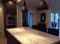 Fantasy brown quartzite Fantasy Brown Quartzite, Blue Backsplash, Next At Home, Kitchens, House Design, Kitchen, Cuisine, Architecture Design, House Plans