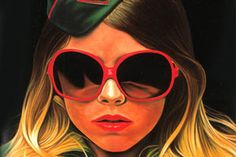 """Richard Phillips is known for his large-scale glossy hyper-realistic  paintings, recalling the pictorial style of magazines from the 1950s,  1960s and 1970s and reflecting traditions of popular image culture. His  paintings represent close-up portraits, predominantly of women from  fashion and soft porno magazines, but also persons from the fields of  pop music and politics. He says """"My Pictures involve a kind of wasted  beauty-that's always been a thread in my work."""""""