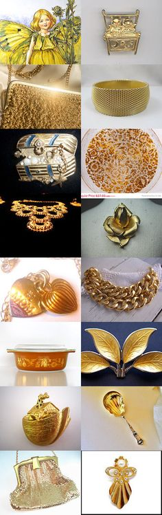 Gold Fairy Dust!! vogueteam team A  Blitz treasury!! by Vickie Cook on Etsy--Pinned with TreasuryPin.com