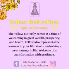 Spiritual Meaning, Spiritual Guidance, Spiritual Growth, Spiritual Awakening, Spiritual Quotes, Yellow Butterfly Meaning, Butterfly Symbolism, Healing Spells, Soul Healing