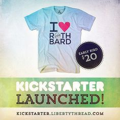 13 days left to get some #liberty #gear. #libertarian #rothbard #mises #kickstarter #crowdfund #crowdfunding #indiegogo #crowd #freedom #free #rewards #tshirt #poster #tshirts #posters #stickers #money #gild #peace #green #launched #support #dollar #heart #red #blue #earlybird #libertythread #thread #shirt