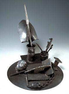 "Melvin Edwards, Tambo, 1993. Welded steel, 2' 4 1/8"" X 2' 1 1/4"". Smithsonian American Art Museum, Washington, D.C."