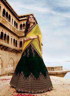 de3f94cec74aae Grab This Lovely Dark Green Colored Lehenga Choli Bridal Lehenga Choli,  Bridal Lehenga Online,