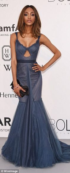 Showing the rest how it's done: Jourdan Dunn looked lovely in blue, while Georgina Chapman...