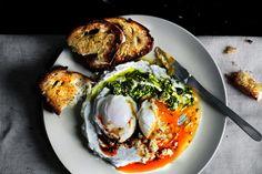 Chimichurri eggs benedict