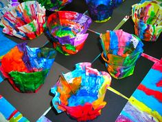 coffee filter art project-posted Feb. 16, 2012 on her blog.  You may need to go in the Blog Archive to find it.