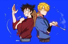One Piece, Strawhat Pirates, Luffy, Sanji