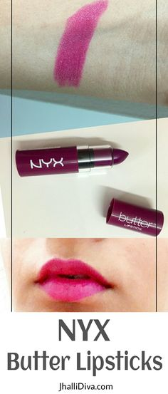 Don't go by the packaging girl..NYX butter lipstick thunderstorm aka hunk isn't a dark purple but a pretty berry shade..
