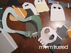 KID CRAFT: Halloween Garland from paint samples.