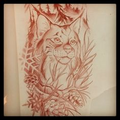 .@tyleralderson | Lynx #sketch for a tattoo. Looking forward to this one!