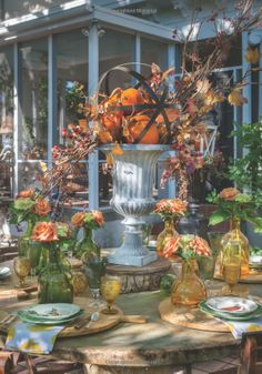 "Beautiful fall table scape from ""Nell Hill's Rooms We Love"" by Mary Carol Garrity, releasing October 2013"