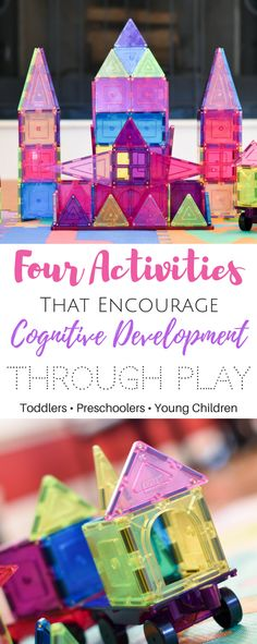 Four Activities That Encourage Cognitive Development Through Play Preschool Toys Toddler Toys Child Toys Educational Toys Learning Activities Magnetic Blocks Design and Build Painting Jigsaw Puzzles Memory Brain Development Cogniti Toddler Preschool, Toddler Crafts, Toddler Toys, Preschool Activities, Steam Activities, Fun Rainy Day Activities, Infant Activities, Learning Activities, Cognitive Development Activities