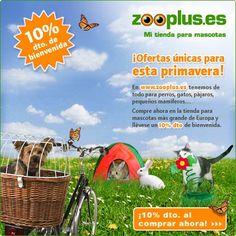 10% de dto nuevos clientes tienda online para mascotas hasta 31/04 CÓDIGO:10PRNK-AFF-ESTD http://www.expotienda.com/index.asp?categoria=8=169