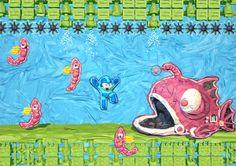Megaman, Kirby, Metroid, Dragon Quest, Contra y The Legend of Zelda convertidos en Origami
