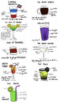 Avengers drinks