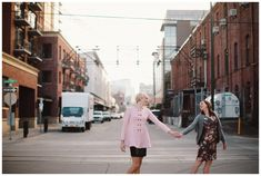 Pearl District engagement photos in Portland by Katy Weaver