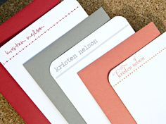 Personalized Stationery Flat Notecards - Simple & Classic.