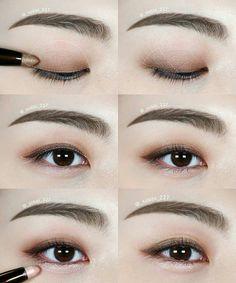 wedding makeup korean Ideen fr Hochzeit Make-up Korean Natural Korean Makeup Tips, Korean Makeup Look, Asian Eye Makeup, Eye Makeup Tips, Makeup Trends, Makeup Eyeshadow, Eyeliner, Dark Eyeshadow, Asian Eyeshadow