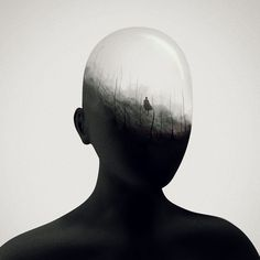 <p>Montreal-based illustrator Gabriel Levesque visually conceptualizes futuristic worlds. Just discovered him through his series titled Mind's Eye, featuring faceless silhouetted figures who is illumi