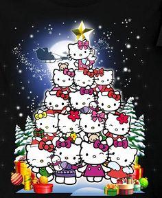 Hello Kitty X-mas Tree Hello Kitty Art, Hello Kitty Themes, Hello Kitty Pictures, Sanrio Hello Kitty, Hello Kitty Christmas, Christmas Cats, Merry Christmas, Xmas, Little Twin Stars