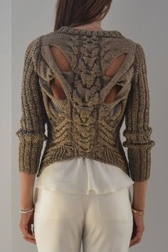Its a dissection sweater! Love the vertebrae and ribs!!!