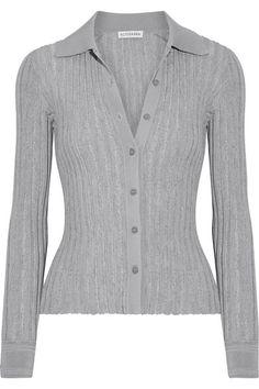 Altuzarra - Campbell Ribbed-knit Cardigan - Gray