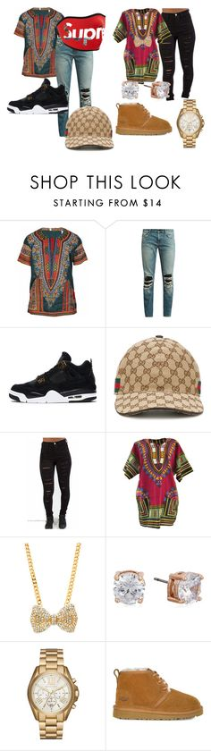 """""""Relationship Goals"""" by quawhitten ❤ liked on Polyvore featuring Yves Saint Laurent, Gucci, Anne Klein, Michael Kors, UGG and goals"""