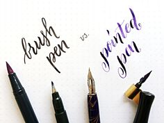 What to learn first: brush lettering or pointed pen calligraphy?
