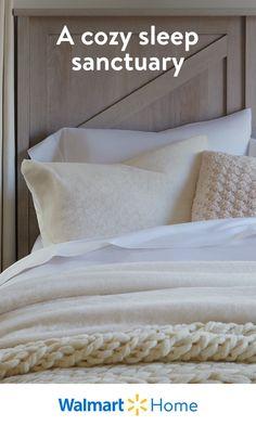Farmhouse Bedroom Decor, Home Decor Bedroom, Bedroom Furniture, Master Bedroom, Walmart Home, Room Ideas Bedroom, Bedroom Styles, Beautiful Bedrooms, Cheap Home Decor