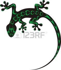 pochoir: gecko tatouage                                                       …