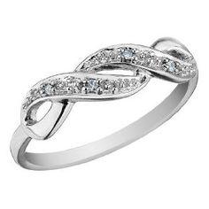 Infinity Diamond Promise Ring in White, Yellow or Rose PInk Gold Diamond Promise Rings, Diamond Wedding Bands, Wedding Rings, Or Rose, Rose Gold, Infinity Jewelry, Infinity Rings, Double Infinity, Ring Verlobung