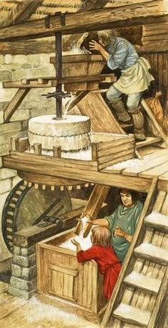 Milling Grain by Peter Jackson