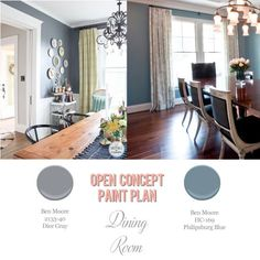Foolproof Paint Selections For An Open Concept Floor Plan Via Honey