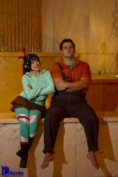 My daughter and her uncles costumes next Halloween. Gonna be awesome! wreck it ralph and vanellope von schweets costume / cosplay