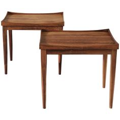 Pair of Side Tables in Rosewood   From a unique collection of antique and modern side tables at https://www.1stdibs.com/furniture/tables/side-tables/