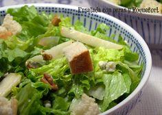 Ensalada con peras y Roquefort