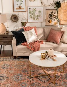 Boho Chic Living Room, Earthy Living Room, Cute Living Room, Living Room White, Cozy Living Rooms, Bohemian Living, Modern Bohemian, Interior Design Living Room, Living Room Designs