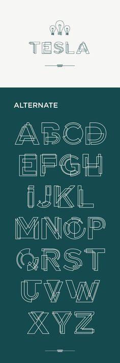 特斯拉 - 免费字体: