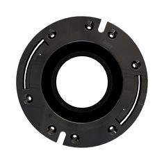 Oatey Fast Set 3 in. Outside Fit 4 in. Inside Fit ABS Open Hub Toilet Flange with Plastic Ring, Black. Toilet Ring, Fit Abs, Plastic Molds, Stainless Steel Rings, Floor Design, The 4, Plumbing